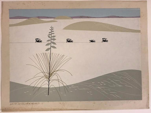 Charley Harper Ford Times Print White Sands New Mexico