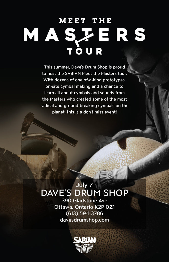 Sabian Meet The Masters Tour Comes to Ottawa