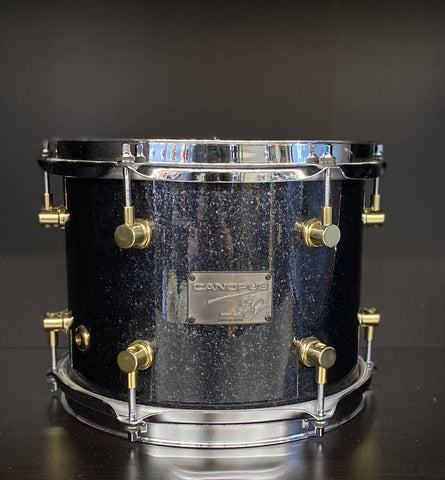 "Canopus 10"" Tom in Black Sparkle - used drum kit Canopus"