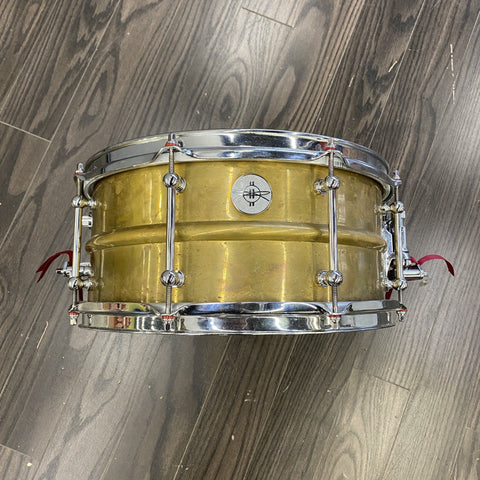 Dunnett 2N Raw Brass 6.5x14 - Used drum kit Dunnett