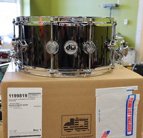 DW Black Nickel Brass Snare 6.5 x 14 B-Stock drum kit DW