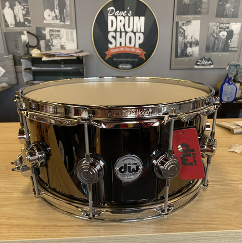 "DW Black Nickel Over Brass 6.5x14 ""B Stock"" drum kit DW"
