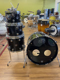 DW Performance Series 4pc Shell Pack Black Mira - Used drum kit DW