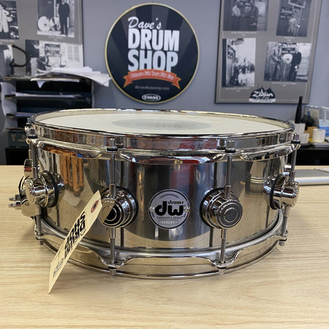 DW Stainless Steel 5.5x14 Stainless Snare - Used drum kit DW
