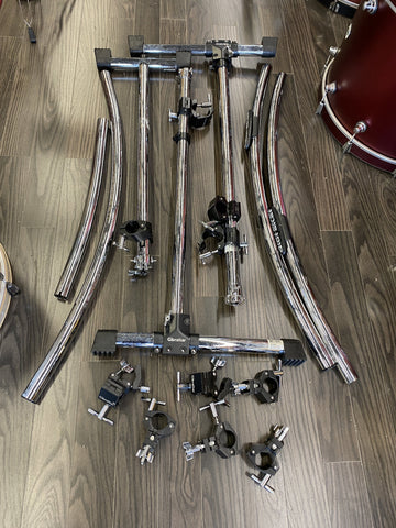 Gibraltar 2 Sided Rack with extras - Used drum kit Gibraltar