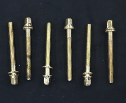 "Gold/Brass 2"" T rods 6 pack drum kit custom"