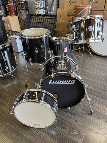 Ludwig Breakbeats in Black Sparkle - Used drum kit Ludwig