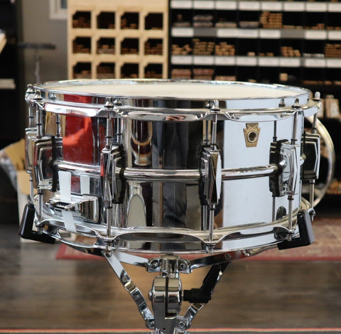 Ludwig Chrome Over Brass 6.5x14 Snare - Used drum kit Ludwig