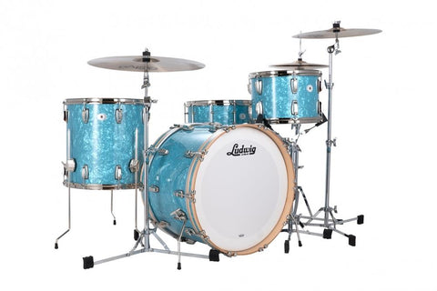 Ludwig Classic Maple Fab with Snare - Glacier Blue drum kit Ludwig