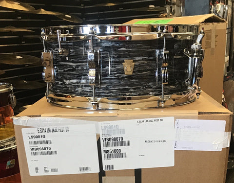 Ludwig Jazz Festival Snare Oyster Black - New 2019 drum kit Ludwig