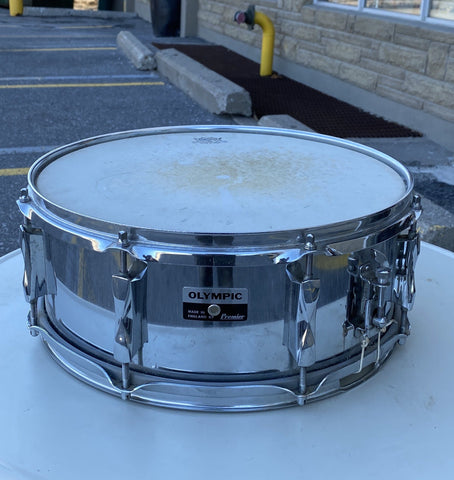 Olympic Premier 70's Steel Chrome Snare - used drum kit Olympic