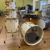 Pearl Masters Maple Early 2000's Opal White 24K Gold - Used drum kit Pearl