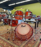 Pearl Ruby Crystal Beat 5pc SHell Pack - Used drum kit Pearl