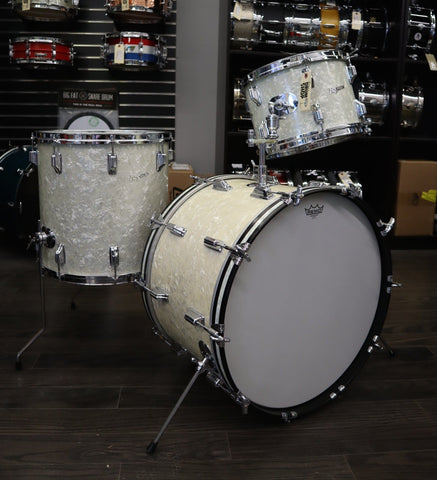 Rogers Holiday 3 pc Drum Kit White Marine Pearl drum kit Rogers