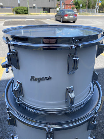 Rogers White Swivomatic 70's 13 x 9 Tom - used drum kit Rogers