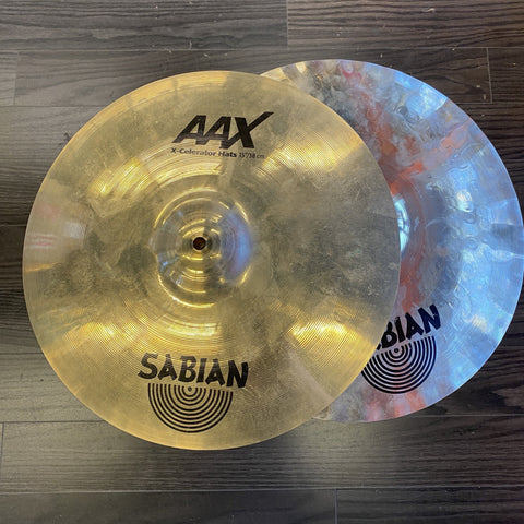 "Sabian 15"" AAX Xcellerator Hi Hats - Used drum kit SABIAN"