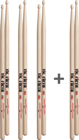 Vic Firth 5B Deal - Buy 3 pairs get 1 Pr Free! DRUM STICK Vic Firth