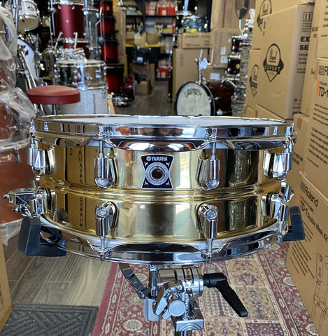 Yamaha 14x5.5 Brass Snare MIJ - used drum kit Yamaha