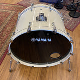 "Yamaha 26"" Maple Custom Absolute Bass Drum White Sparkle - Used drum kit Yamaha"