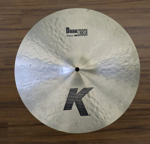 "Zildjian K Dark Thin Crash 16"" - Used drum kit Zildjian"