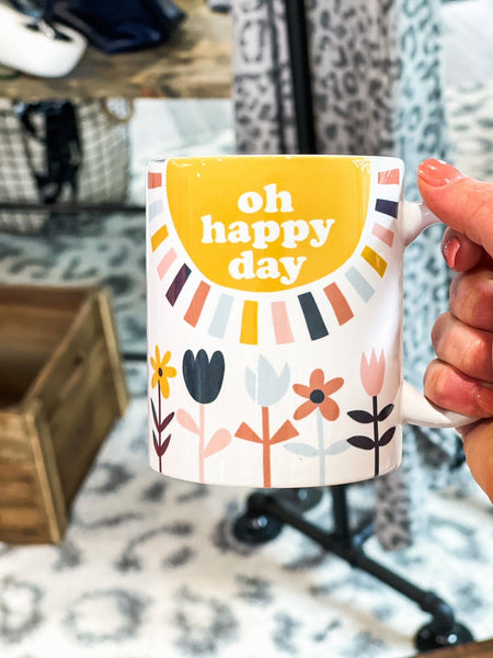 Drinkware - Oh Happy Day Ceramic Coffee Mug