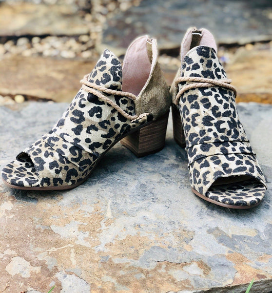Shoes - Very G Sillian Booties In Leopard