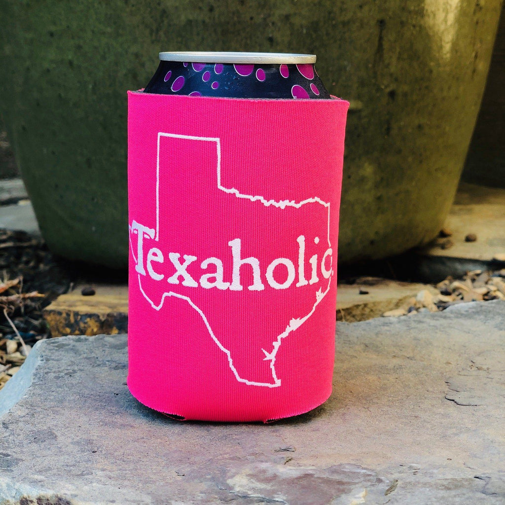 Can Cooler - Texaholic Can Cooler In Hot Pink