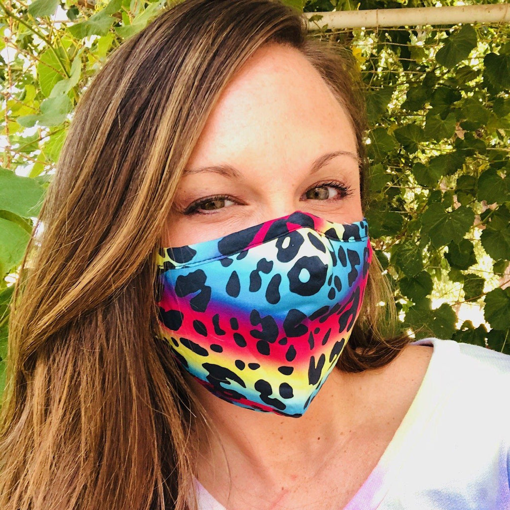 Bath And Body - Adult Everyday Filter Fabric Mask In Bright Leopard