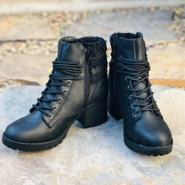 Shoes - Very G Olivia Hiking Booties In Black