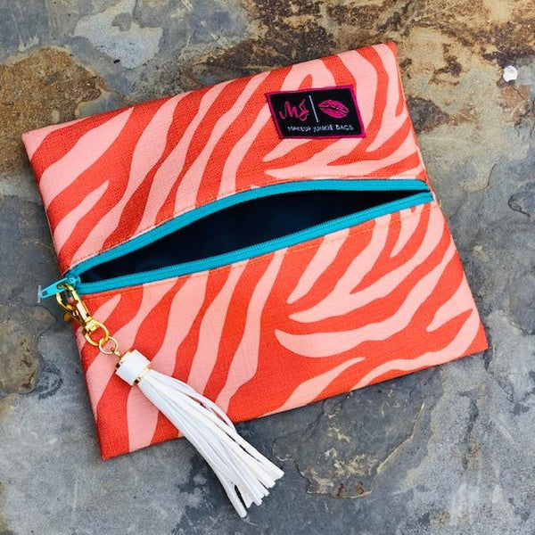 Makeup Junkie - Makeup Junkie Bag In Orange Fever