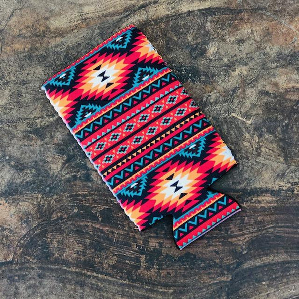 Accessories - Slim Can Cooler In Orange Aztec
