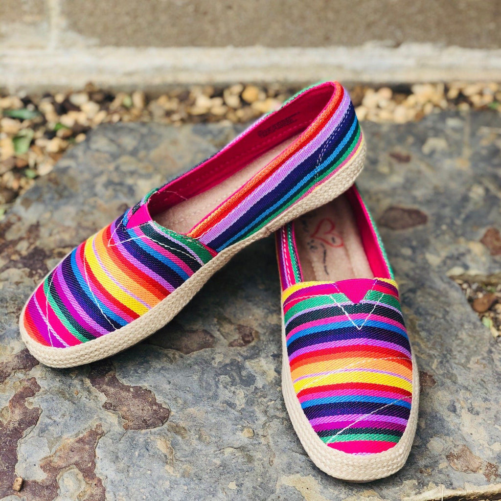 Shoes - Mia Amore Freedom Slip On Sneakers In Rainbow