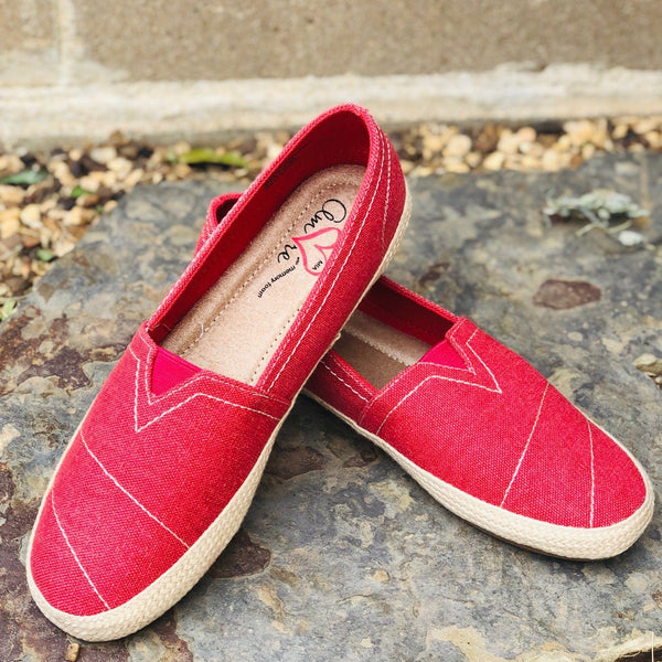 Shoes - Mia Amore Freedom Slip On Sneakers In Red