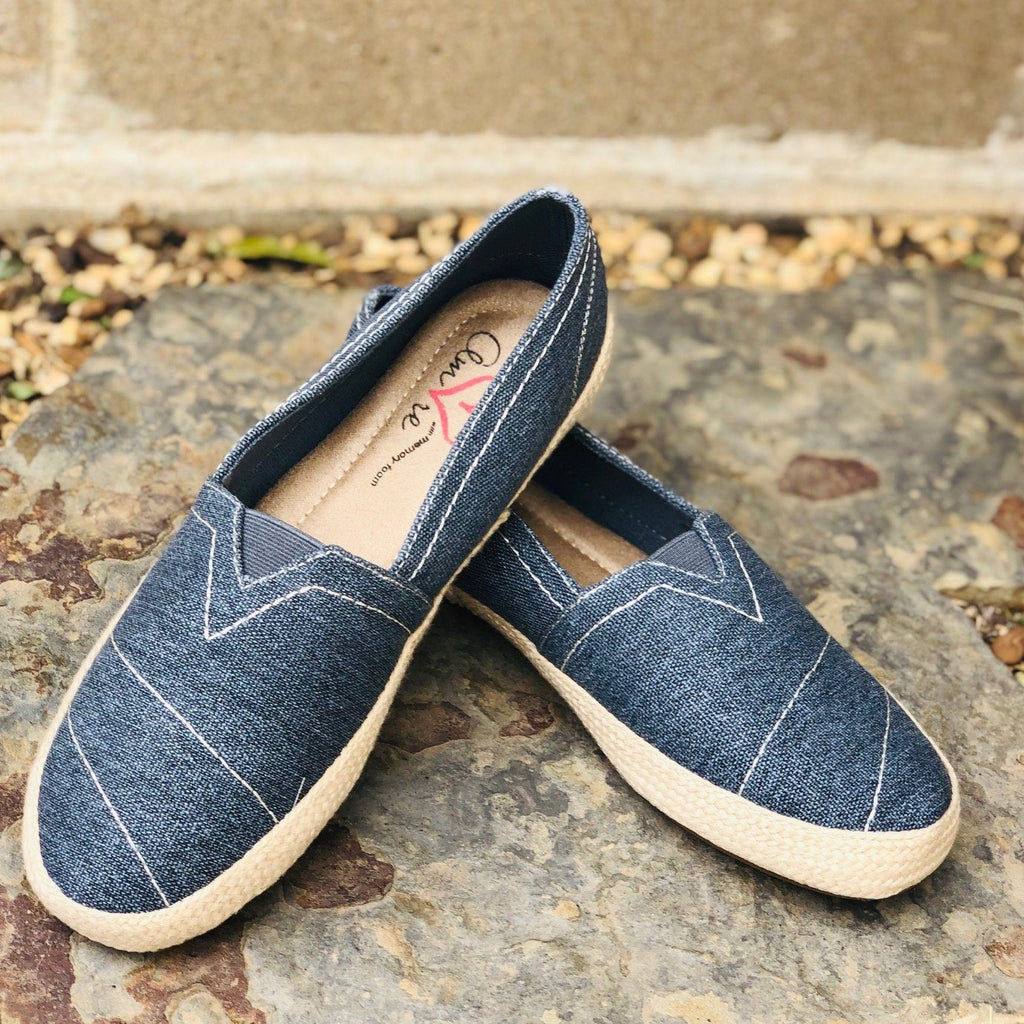 Shoes - Mia Amore Freedom Slip On Sneakers In Denim