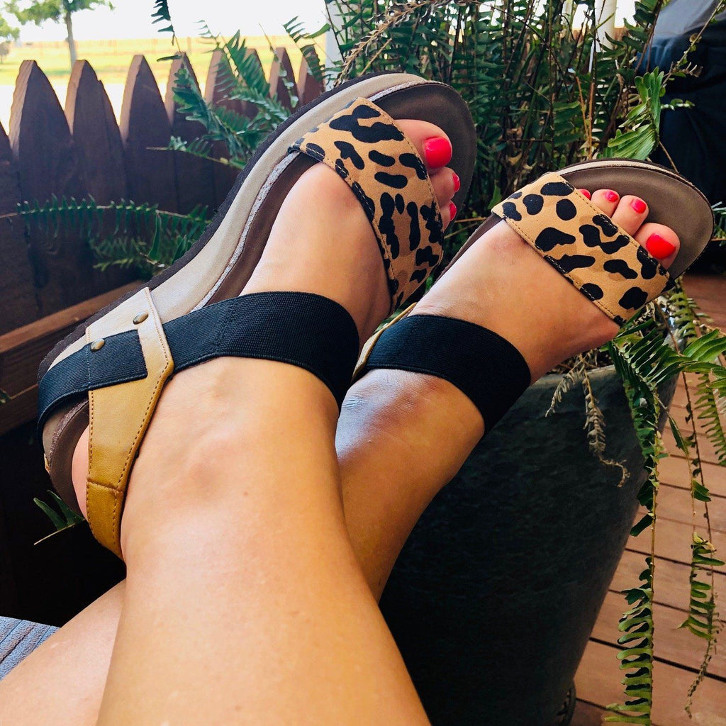 Shoes - The Jenny Wedges In Leopard
