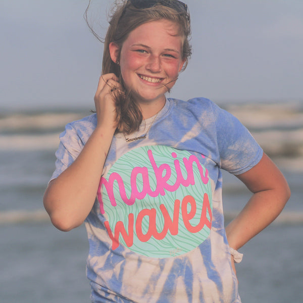 Graphic Tees - Makin Waves Tie Dye Unisex Fit Graphic Tee