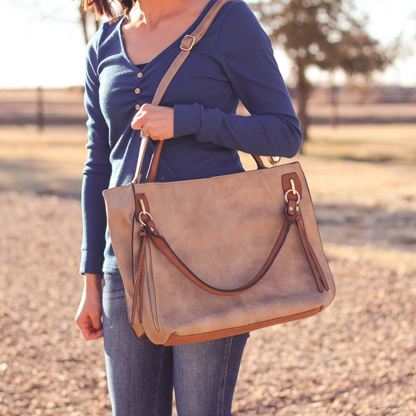 Totes, Purses, Bags - The Sis Tote In Khaki