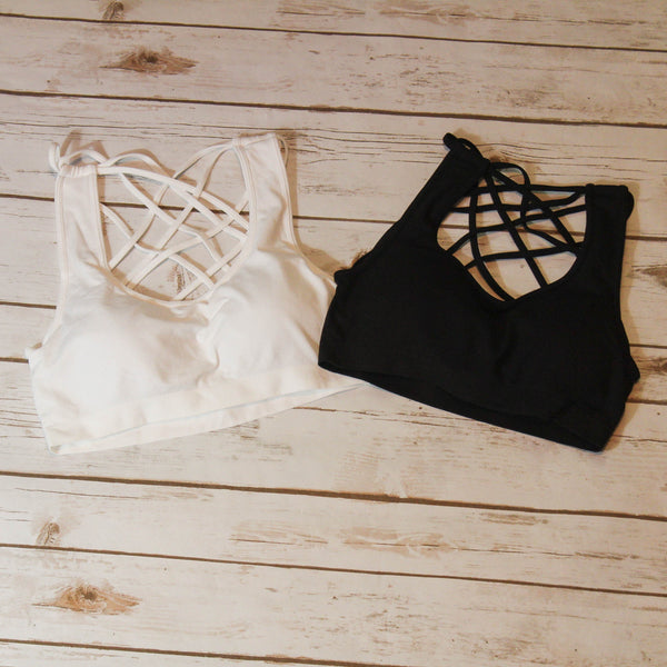 Criss Cross Back Bralette - Southern Mess Boutique