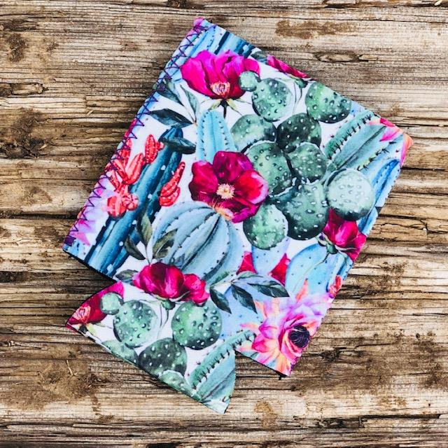 Floral Cactus Can Cooler - Southern Mess Boutique