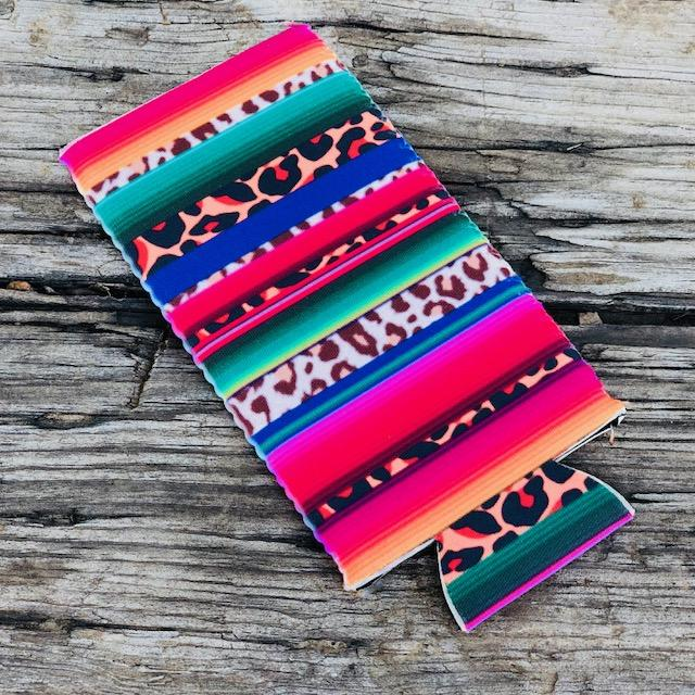 Accessories - Slim Can Cooler In Serape Cheetah