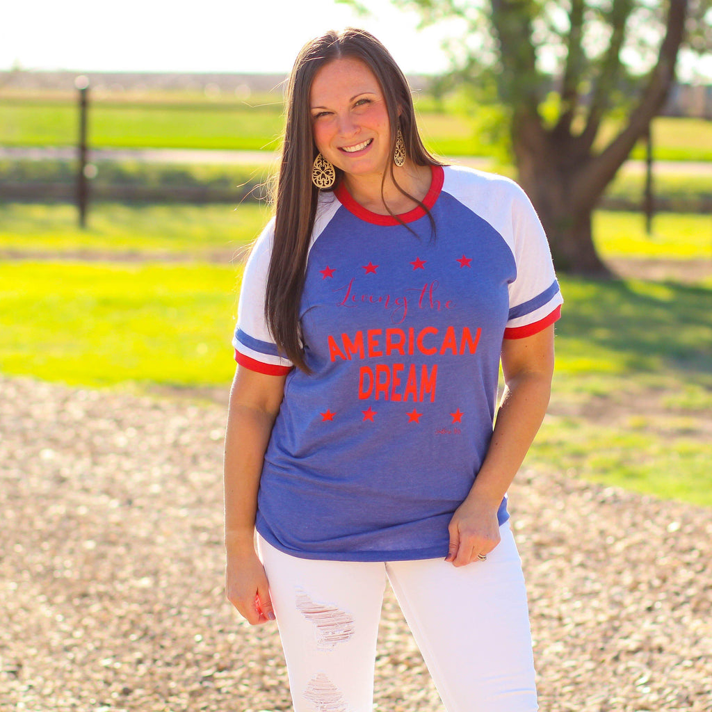 American Dream Graphic Tee - Southern Mess Boutique
