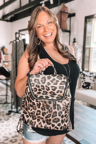 Totes, Purses, Bags - Backpacker Mini Backpack In Leopard