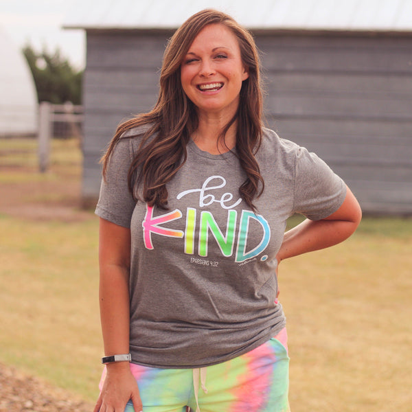 Graphic Tees - Be Kind Tie Dye Unisex Fit Graphic Tee