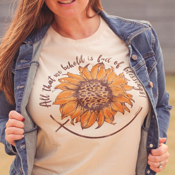 Graphic Tees - Blessings Sunflower Tee