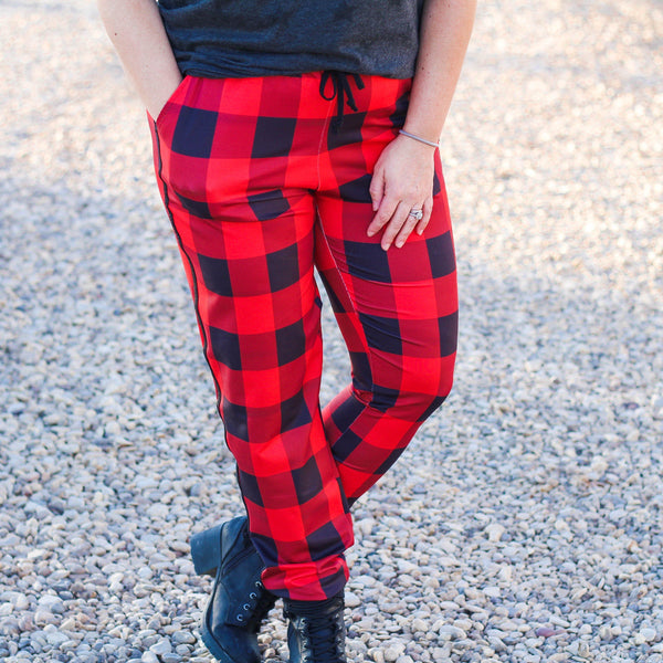 Bottoms - Campfire Buffalo Plaid Everyday Joggers