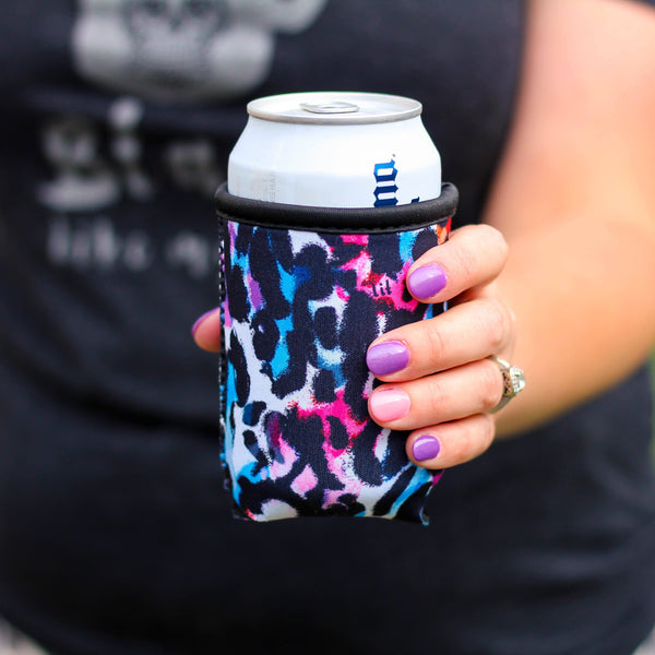Can Cooler - Watercolor Leopard Can Cooler