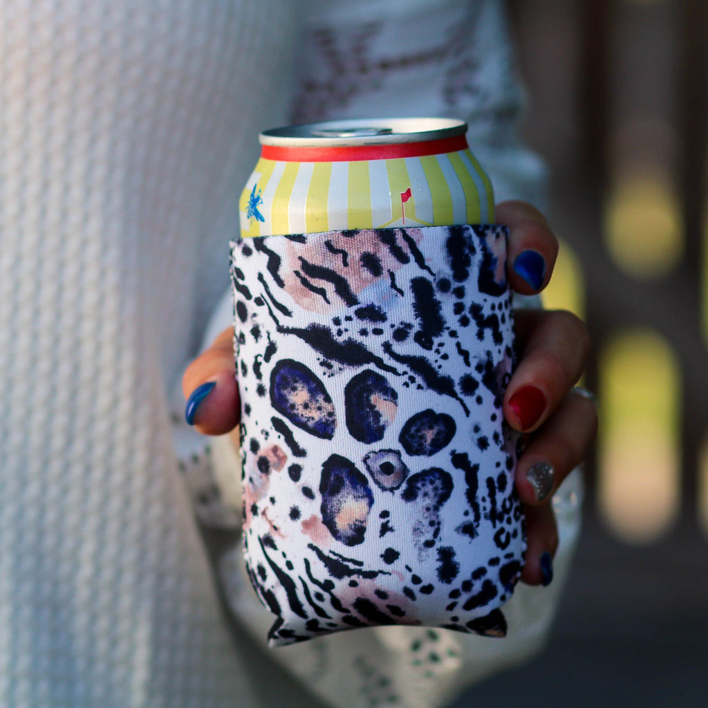 Can Cooler - Snow Leopard Can Cooler