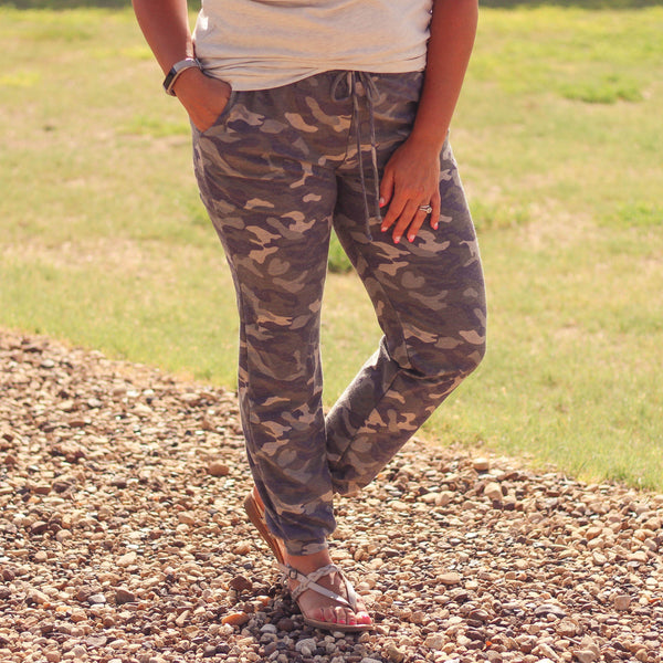Bottoms - Codie Camo Lounge Wear Joggers