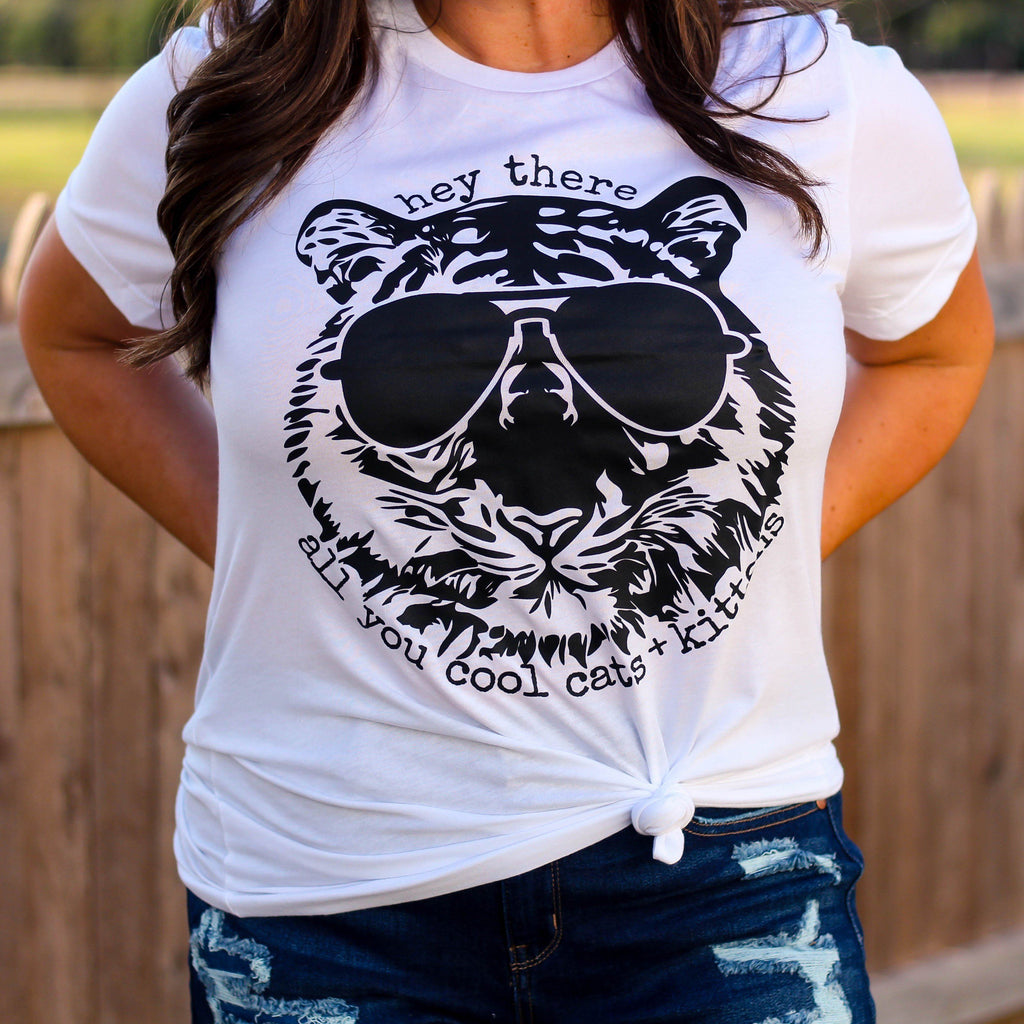 Graphic Tees - Cool Cat Unisex Fit Graphic Tee