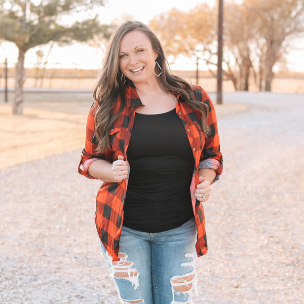 Layers - Country Girl Flannel In Red Buffalo